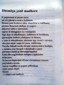 ALBERT VATAJ _ POEZI DHIMBJA JONE MADHORE